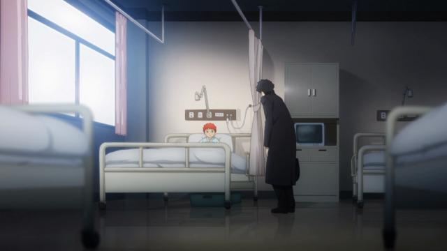 O momento em que Spike Spiegel adotou Shirou. Até que ele fica bem de sobretudo preto