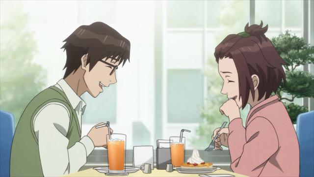 Shinichi e Murano se divertem no encontro