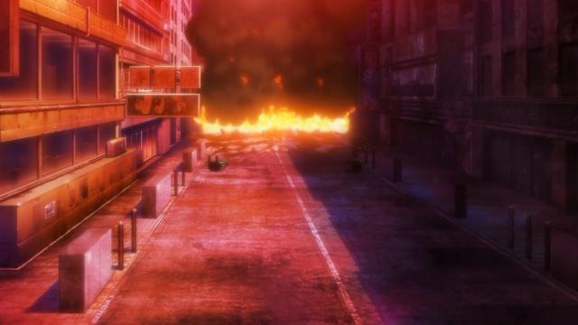 O resultado da explosão que Kitazawa provocou