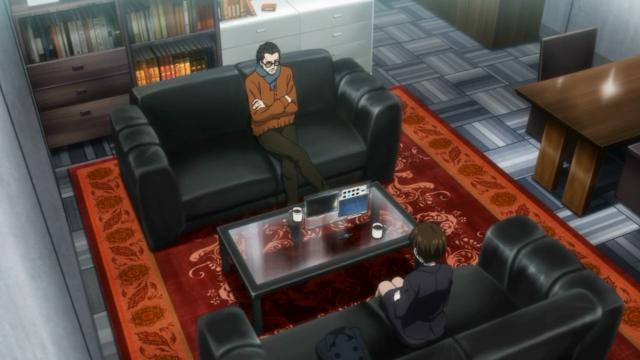 Ele está preso agora, e Tsunemori foi conversar com ele. Parece insegura quanto a sua própria sanidade. Ele aparece na abertura como um dos membros da equipe