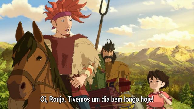 Na volta, Ronja encontra com o bando