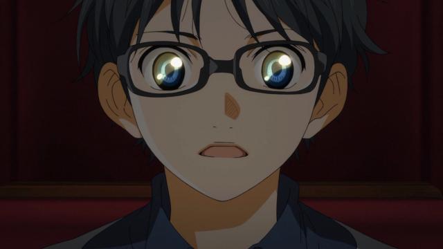 Tsubaki estava certa, olhos de pessoas apaixonadas brilham, Kousei