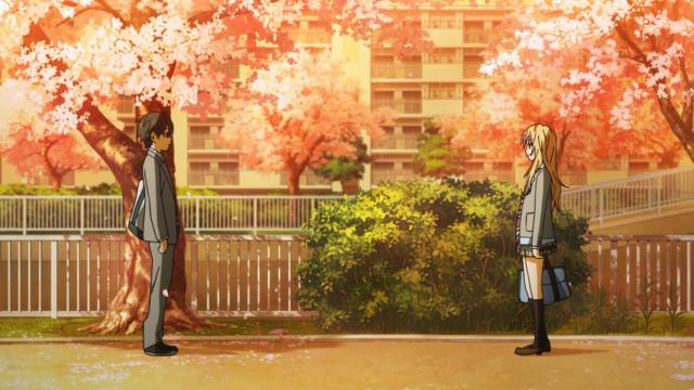 Ao fim Kousei a convence a não procurar Watari, e ela decide ir fazer alguma coisa com ele