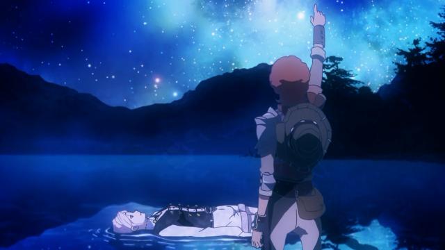 E olharam as estrelas