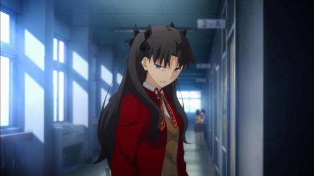 Rin, irada com Shirou