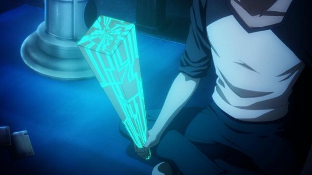 Shirou segura o pau na mão para deixá-lo duro