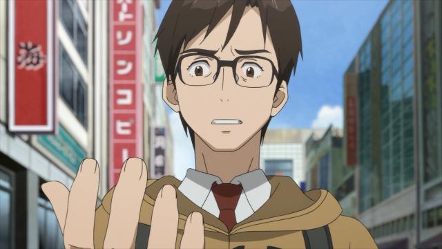 Shinichi discute com Migi sobre o que a professora Ryouko disse