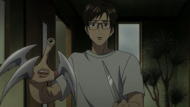A cara de Shinichi quando vê sua mãe. Surpresa