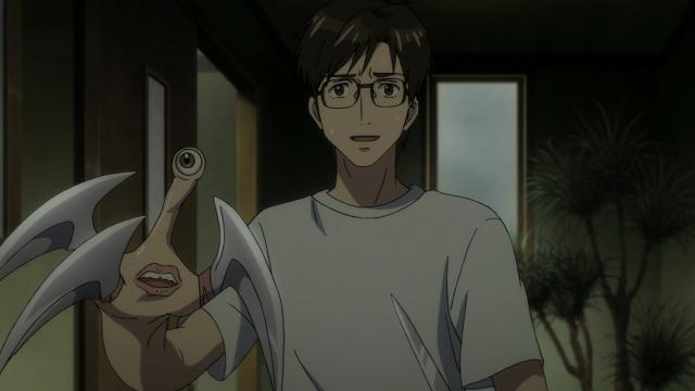 A cara de Shinichi quando vê sua mãe. Negação
