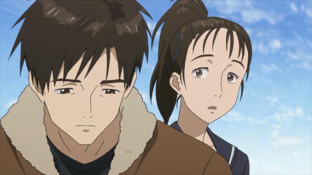 Maki encontra Shinichi na ponte
