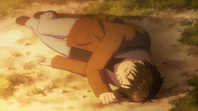 Shinichi desmaia após ouvir sobre os últimos momentos de sua mãe