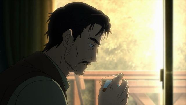 O pai de Shinichi não está muito bem. Não está se cuidando, não está cuidando da casa e fica bebendo o tempo todo