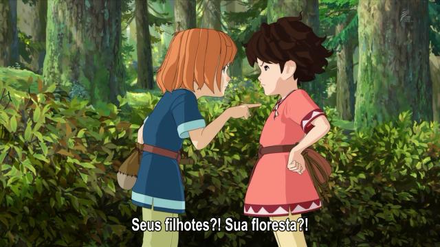 """Birk dá a ela uma lição sobre quem é """"dono"""" da floresta"""