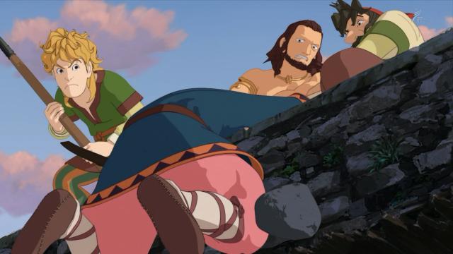 Debaixo de pedras, Mattis quase cai na Fenda do Inferno e é resgatado por seus companheiros. Todos fogem dali correndo em seguida