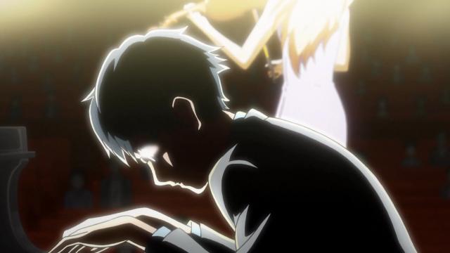 Kousei está encolhido nas sombras, Kaori é a luz