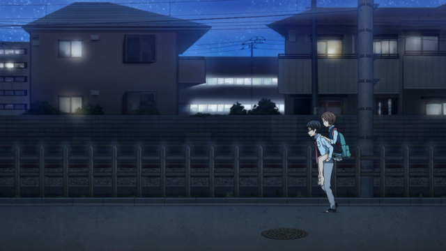Kousei carrega Tsubaki