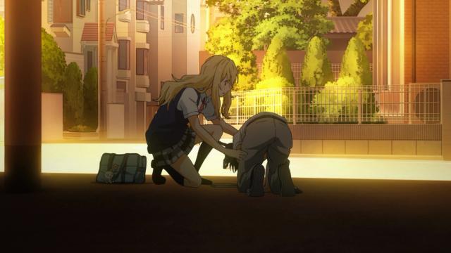 O protagonista tem ataque de vômitos quando vê um gato preto na rua que lembra o seu quando criança