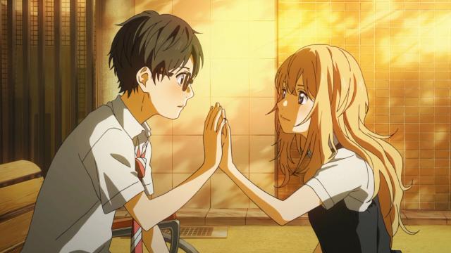 Será que a Kaori sabe que essas mãos encostadas possuem o significado que possuem para o Kousei? O que será que significa para ela?