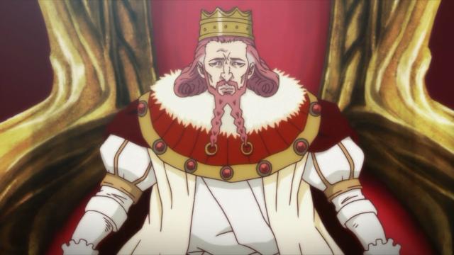 Esse é o rei com cara de carta de baralho. Vou chamá-lo de Rei de Copas
