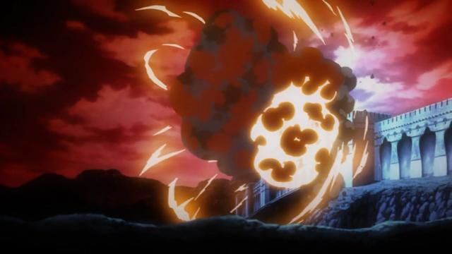 Anatae é atacada por poderosos raios energéticos emitidos pelos ghouls