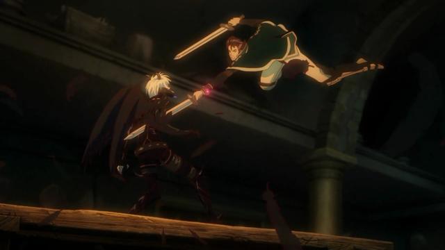Enquanto Favaro distraía Azazel, Kaisar o flanqueou e perfurou seu peito