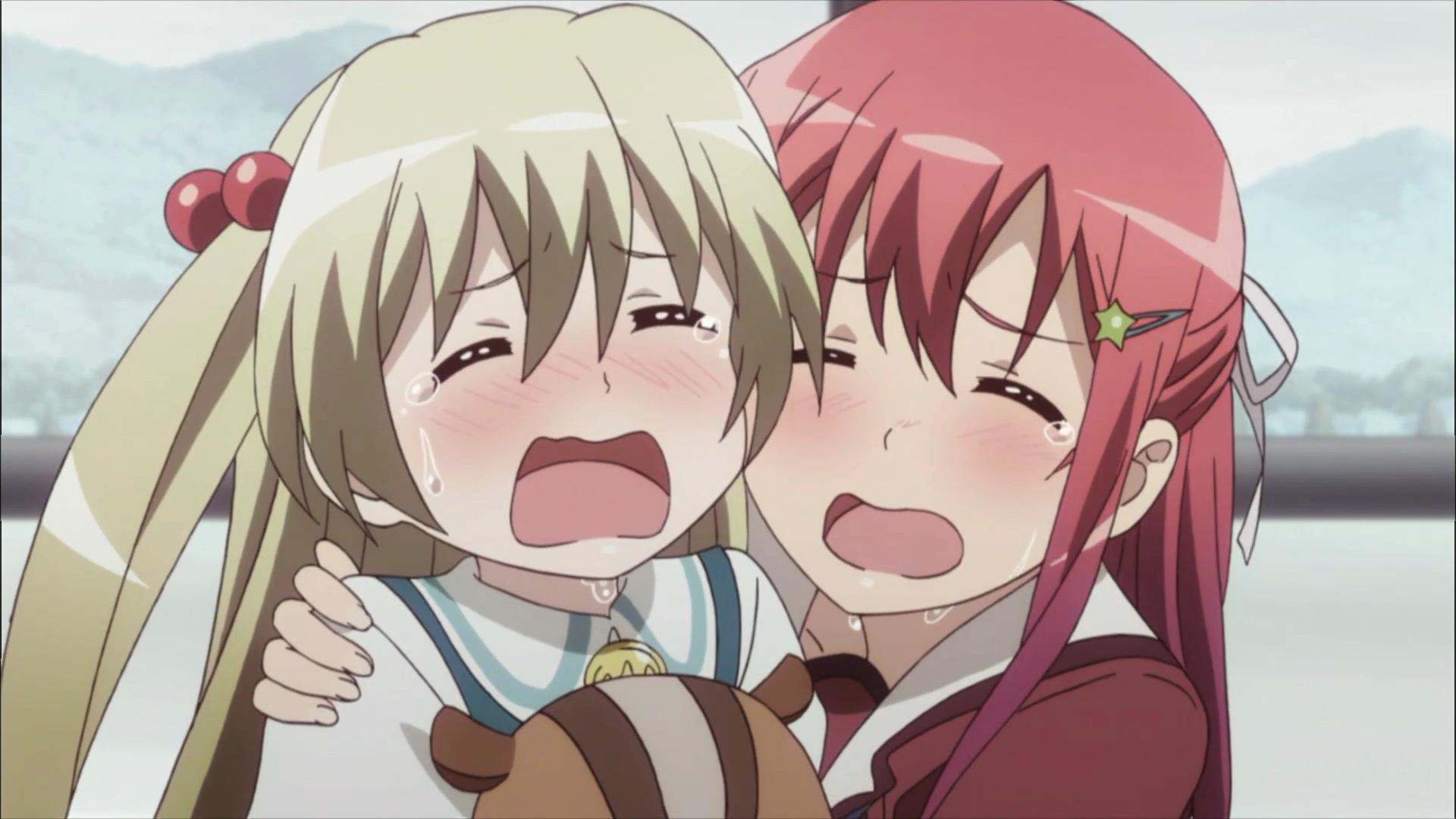 Tomoyo e Chifuyu choram o fim da temporada