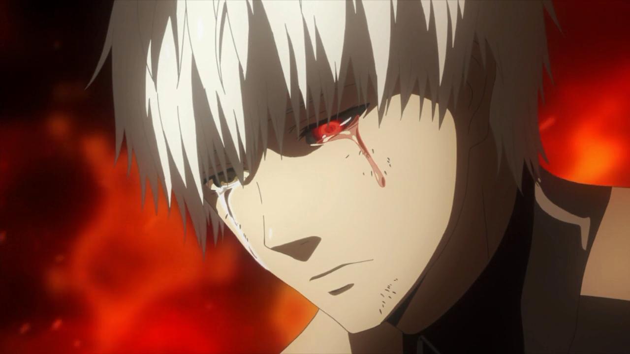 Não é só essa cena. O mundo de Tokyo Ghoul é o inferno na terra, é puro desespero