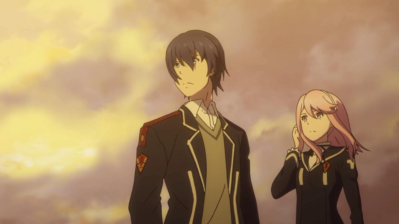 Tohru Kazasumi e Kyouka Katagiri, em uma tentativa de cena épica (eu acho)