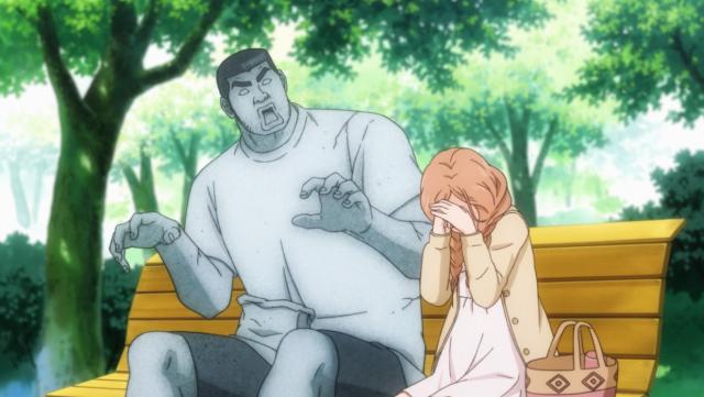 """Ahhh Takeo-kun, você a fez chorar..."""