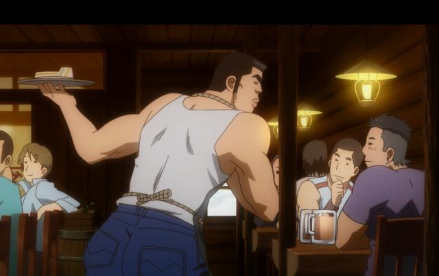Takeo arrumou um emprego... em um Male Cafe?  ~Ba dum tss~