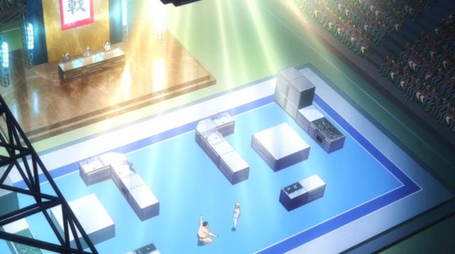 O palco real de um verdadeiro shokugeki.