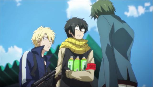 """Mais BL no anime. Parece uma disputa de ukes pra ver quem fica com o seme alfa.  """"Tire as mãos de meu macho"""""""