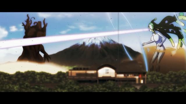 A Suu Godzilla with lasers!