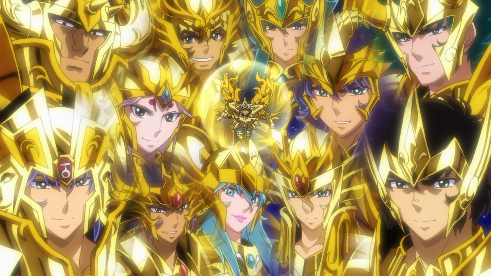 Todos os cavaleiros de ouro desejam boa sorte à Aioria
