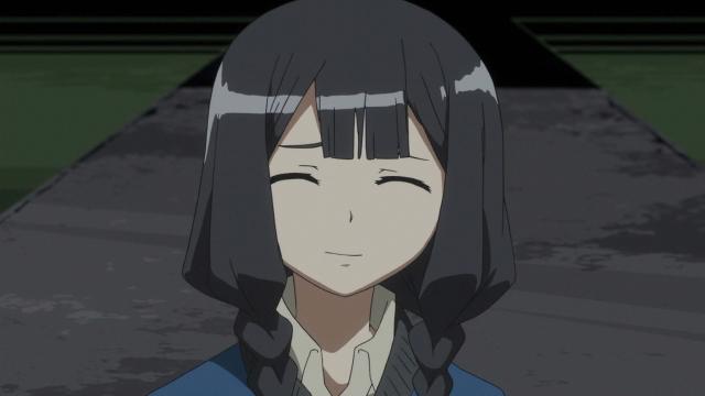 O último sorriso de Mieko, agradecendo pela gentileza de Raito