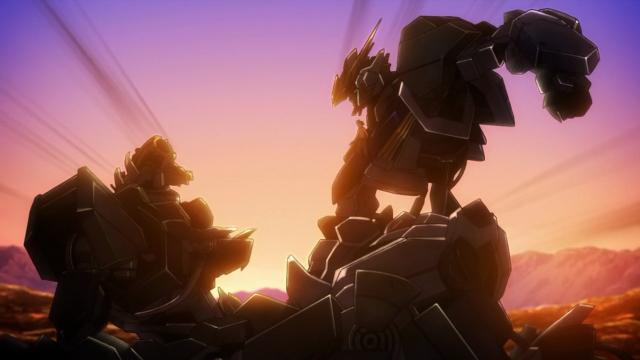 Mais um incrível quadro com o Gundam