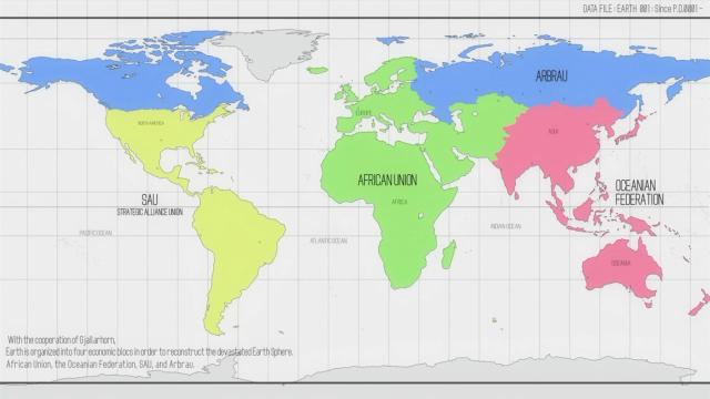 Novo mapa político da Terra