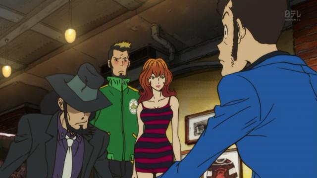 Fujiko casualmente andando com uma celebridade.