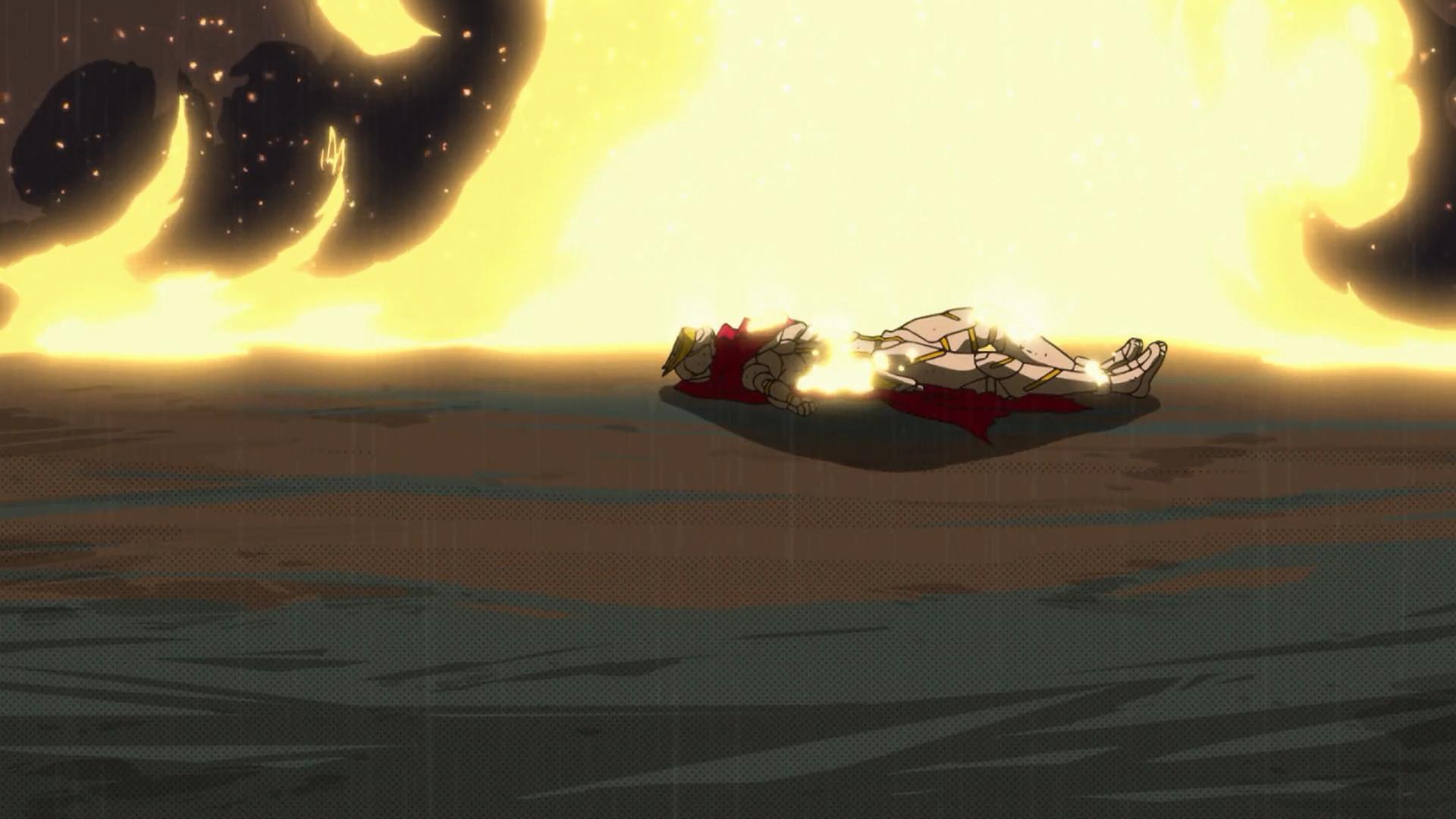 A morte do Cavaleiro Arco-Íris pelo fogo