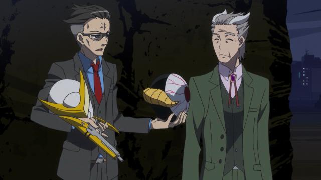 Shimazu ajudou Akita nesse episódio e pediu que o Escritório de Super-Humanos pare de se opôr à entrada do Japão na Força de Defesa da Terra