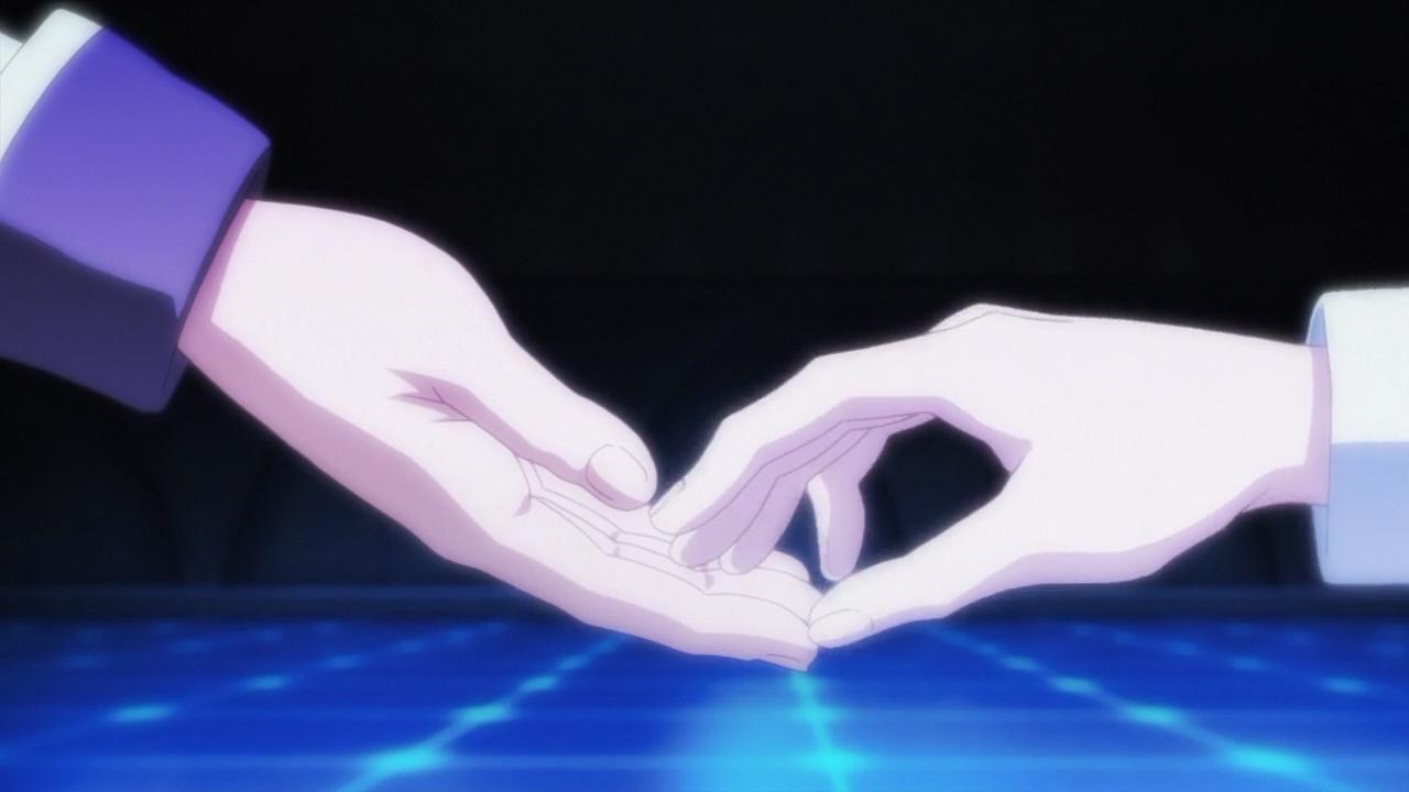 Ikki estende a mão para Ayase