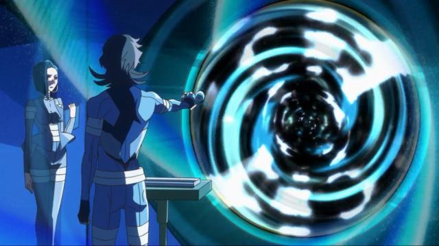 Isso é parecido com aquele fundo psicodélico quando o Raito encontrou a Mieko no terceiro episódio