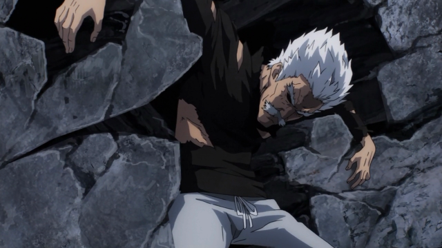 Quase pensei que o anime poderia querer criar uma tensão dramática com o Silver Fang