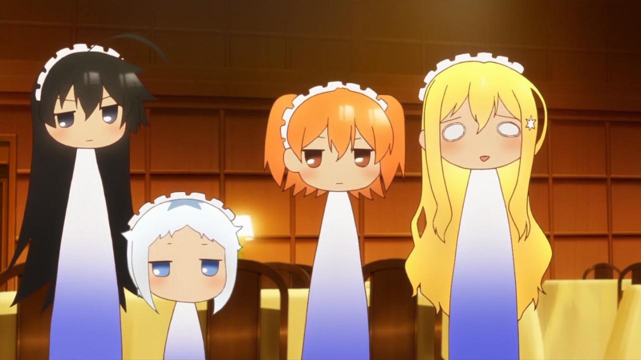 Para mim empregadas em anime são sempre divertidas assim