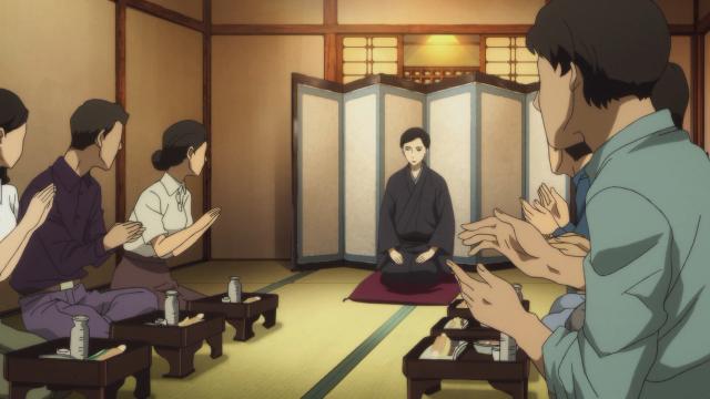 Yakumo fazendo apresentações sozinho enquanto seu mestre não voltava ao Japão