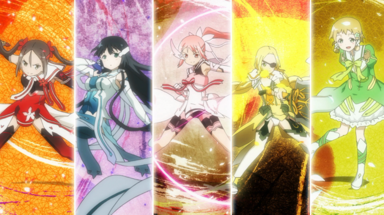 As cinco garotas transformadas