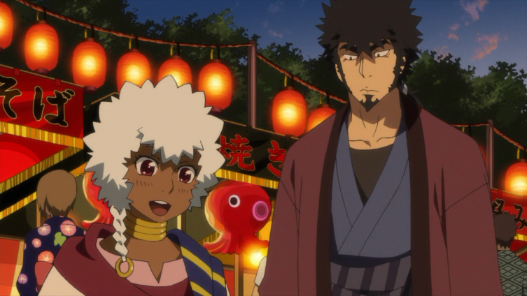 Kyouma e o príncipe Lwai