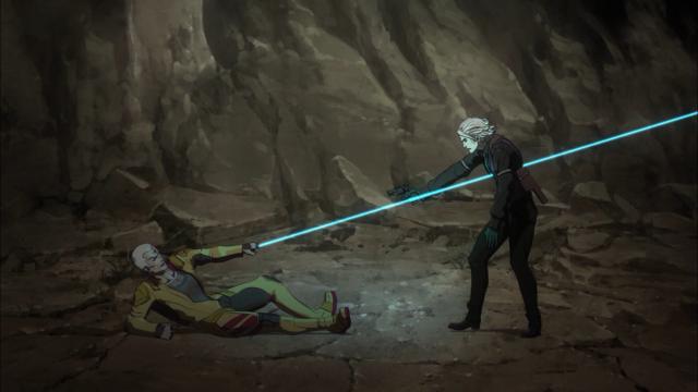 Antes disso a Kogane já havia atingido-o de forma semelhante pelas costas