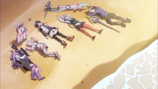 O time Azuma acaba assim, varrido para uma praia qualquer