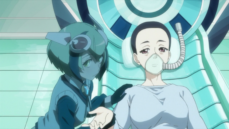 A imagem da Mira aparece ao lado da enfraquecida noiva do Kyouma nas memórias dele
